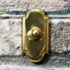 Polished Brass front door Bell with classical arched top & bottom