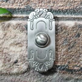 Satin Chrome Art Nouveau inspired door bell