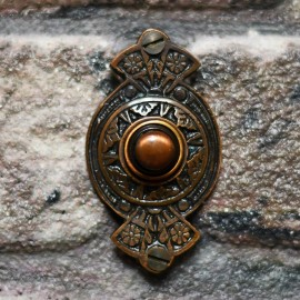 """""""Hampern Close"""" Antique Copper Decorative Bell Push"""