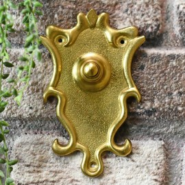 Brass Bell push to wire to chime