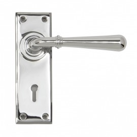 """""""Emerson"""" Bright Chrome Lever Handle Set With Keyhole"""