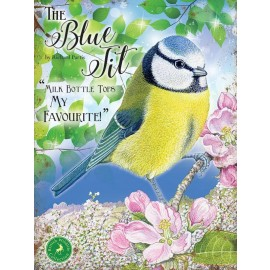 Traditional Blue Tit Metal Sign
