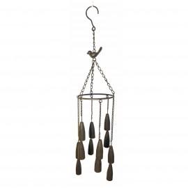 Bronze Bird Garden Wind Chimes