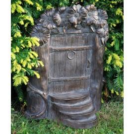 Bronze Fairy Door Garden Ornament