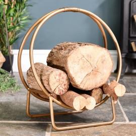 Bronze Log Holder in Situ Holding Logs