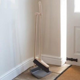 Beech Wood Long Handle Dustpan & Brush Set