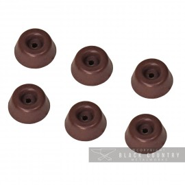 Brown Round Toilet Seat Buffers - Pack of 6