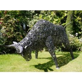 Torero Rodeo Bull Sculpture Deluxe