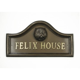 Asal Persian Cat House Name Plaque