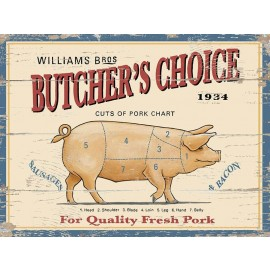 """""""Butchers Choice"""" William Bros Metal Sign"""