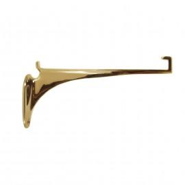 Polished Brass Glass Shelf Bracket