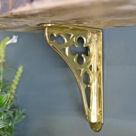 Polished Brass Coalbrookdale iconic shelf bracket