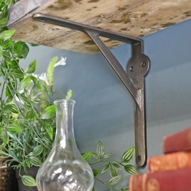Stylish Gallows Brackets in Situ Holding up a Wooden Shelf