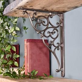 Cast Iron Ornate Scroll Shelf Bracket 28 x 22.5cm