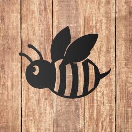 Black 'Cartoon Bee' Wall Art