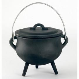 Cast Iron Cauldron in a Black Finish