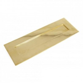 Cast Brass Large Traditional Letter Plate in a Polished Brass Finish