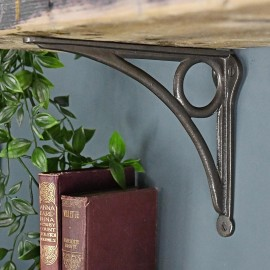 Cast Iron Circle Design Shelf Bracket 16 x 19.5cm