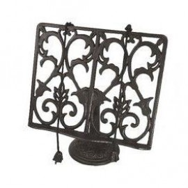 Cook Book Stand Created From Cast Iron