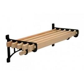 Cast Iron & Wooden Storage Shelf