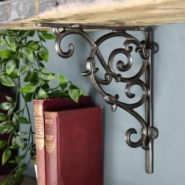 Cast Iron Tulip Design Shelf Bracket 20 x 23cm