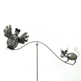 Cat & Bird Balancing Spike