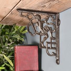 Cherub Shelf Bracket Created from Iron