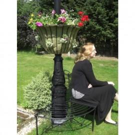 """Florentine"" Design Lamp Post Basket to Scale"