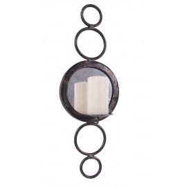 """Hempstead Court"" Circular Design Mirror Candle Holder"
