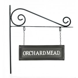 Classic Black Rectangular Double Sided House Name Sign