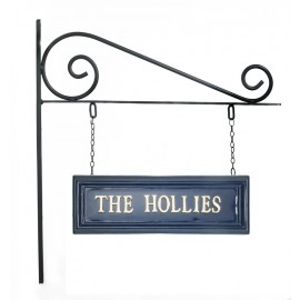 Classic Blue Rectangular Double Sided House Name Sign