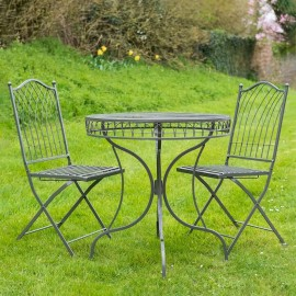 Classic Two Piece Bistro Set in Grey