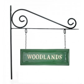 Classic Green Rectangular Double Sided House Name Sign