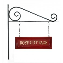 Classic Red Rectangular Double Sided House Name Sign