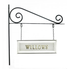 Classic White Rectangular Double Sided House Name Sign