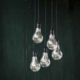 Close-up of the Cluster Bulb Lights