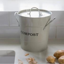 Cream 3.5L Compost Bucket