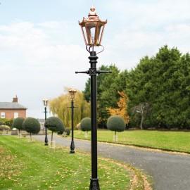 Copper Hexagonal Driveway Lighting - 3.25m