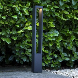 Contemporary LED Pillar Post in Situ in the Garden