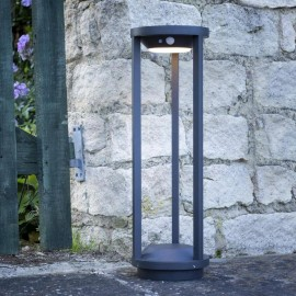 Contemporary Solar Powered Post Light in Situ in the Garden