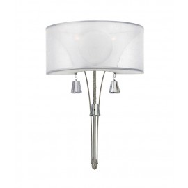 """""""Balmoren Place"""" Contemporary Wall Light With Crystal Accents"""