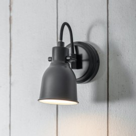Black Contemporary Swan Neck Wall Light Created From Steel