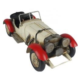 Vintage White Convertible Car Replica Ornament