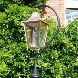 Small Copper Swan Neck Lantern