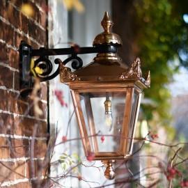 Copper Top Fixed Wall Lantern
