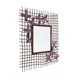 """""""Marberry Meadows"""" Rustic Iron Wall Mirror"""