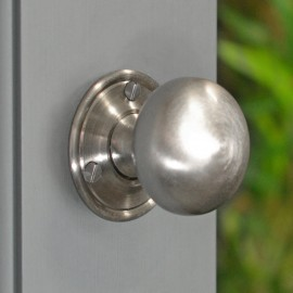 Round Brushed Nickel Door Knobs
