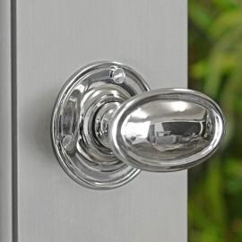 Oval Bright Chrome Door Knob