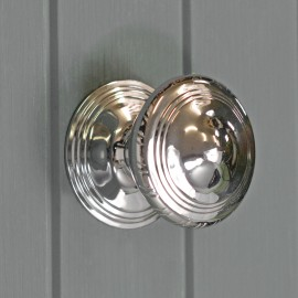 Large Circular Bright Chrome Centre Door Knob