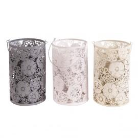 Three cylinders in Grey, White & Cream